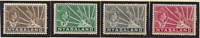 Nyasaland Protectorate Stamps Scott #54A To 57A, Mint Hinged