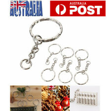 20pcs Bulk Split Metal Key Rings Keyring Blanks With Link Chains For DIY Craft