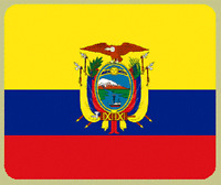 "Blanket Fleece Throw National Flag Ecuador 50""x60"" NEW with protective sleeve"