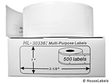 """DYMO 30336 Direct Thermal Multipurpose Labels (1"""" x 2-5/8"""") - (24) Rolls of 500"""