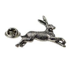 Pewter Countryside Hare like Rabbit Pin Badge Tie Pin, Lapel Pin Badge - XWTP107