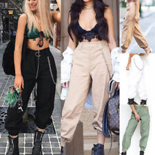 Women Harem Casual Pants Ladies Cargo Running Sports Baggy Dance Jogger Trousers