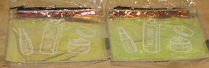2 Macy's Clear Cosmetic Makeup Bag NEW Toiletry Travel Dopp Iridescent Gold NEW