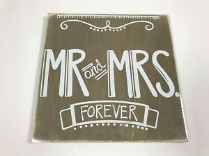 """Mr. & Mrs. Forever Sign Stain Phase 2- Plywood 12""""x12"""""""