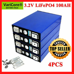 4pcs 3.2v 100ah Lifepo4 Iron Phosphate Solar Cell Electric Car Solar Battery NEW