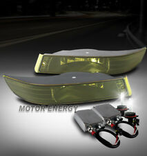 00-05 CHEVY IMPALA FRONT BUMPER DRIVING FOG LIGHTS LAMP YELLOW LENS W/50W 6K HID