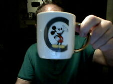 DISNEY MICKEY MOUSE LETTER C GOLD HANDLE DECORATED MUG  BIRTHDAY CHRISTMAS