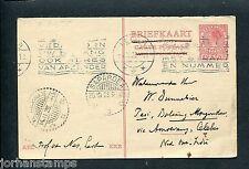 1928 briefkaart Leiden naar Ned.Indie, langebalkstempel SAPAROEA en KOTAMOBAGOE