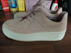Women's Pink Suede Nike Air Force One Size 6 Worn Once