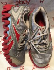REEBOK BOYS 10.5 TODDLER GREY/RED LACE-UP SNEAKERS (FAIR CONDITION)
