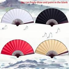 Chinese Fan Hand-held Fan Blank Silk Fabric Folding Fan Party Wedding Decoration