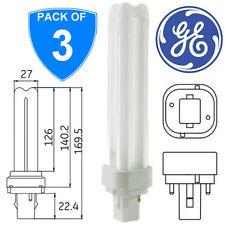 3-GE 35251 2 broche neutre blanc G24d-2 3P Bub 3500k PLC Stick CFL ampoules lampes 835