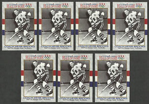 7 Herb Brooks 1980 US Olympic Team 1991 Impel US Olympic Cards Hall of Fame #72