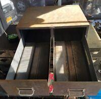Cole steel 5 drawer plan flat file storage cabinet map blueprints vintage cole steel 2 drawer library index card file cabinet malvernweather Gallery