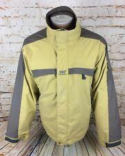 Helly Hansen Yellow Coat Jacket Rain Wind Sz Large / L Mens