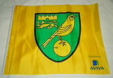"Small Official ""Aviva"" Norwich City FC Football Club Team Badge Supporter Flag"