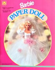 Barbie Paper Doll Book, Whitman 1993, Uncut, 4 Pages of Clothes, Bridal Dress