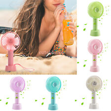 Portable Mini Hand-held Desk Fan Cooler Cooling USB Rechargeable Air Conditioner