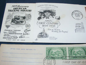 1950 FDC American Trucking Industry OIL'S FIRST CENTURY American Bankers ASSOC