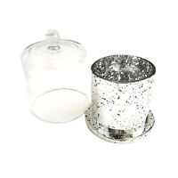 DELUXE METRO - ANTIQUE SILVER AND GLASS CLOCHE COVER.