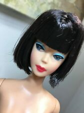 Reproduction Barbie American Girl MINT Stunning Black Hair Nude for OOAK