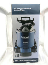 PacVac Superpro Battery 700 Backpack Vacuum Cleaner Commercial Grade
