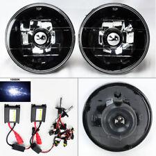 "5.75"" 5 3/4 Round 10K HID Xenon H4 Black Chrome Glass Headlight Conversion Mercu"