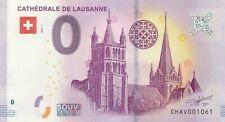 A 2018-1 BILLET 0 EURO SOUVENIR - CH AV - SUISSE CATHEDRALE DE LAUSANNE