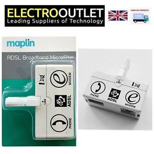 BT Sky Broadband Phone Modem ADSL Microfilter RJ11 Certified Maplin New Version