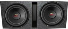 Pyle PLPW12D 12-Inch 3200W Subwoofers With Dual Vented Subwoofer Box (Pair)