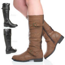 Botas de caña media de mujer de piel sintética