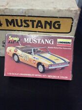 Vintage Lindberg Mustang snap fit 1/32 Scale model kit # 142