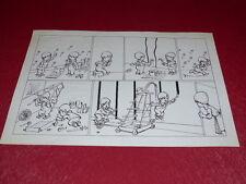 [BD DESSIN HUMOUR PRESSE] STRIDO / PLANCHE ORIGINALE BD Enfants 1960 50x33