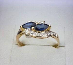 18K Sapphire/Diamond Ring