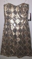 Trixxi Womens Fancy Prom Cocktail Dress Gold Size 7