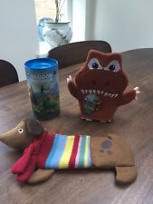 Good Dinosaur washmit and money tin with bath fizzers and Dog Pencil case