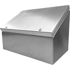 316 Stainless Steel Sloping Roof Desktop Console 203x305x180