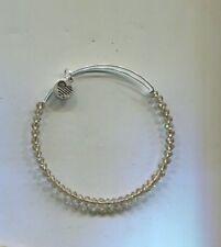 Alex & Ani silver chocolate cut glass bracelet