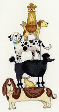 BOTHY THREADS DOG STACK COUNTED CROSS STITCH KIT BY KATE MAWDSLEY XKM2