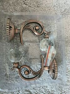 WINOMO 2pc Crystal Ball Curtain Hookback Metal Curtain Holdback Tieback Bronze