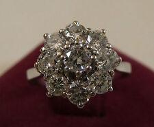 Brillantring Weißgold 585 Brillanten Ring um 1960 Brillantrose insg.0,96 Karat