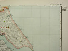 1920 COUNTY MAP of YORKSHIRE SOUTH EAST ~ HILL PONTEFRACT RAILWAYS SEATS PARKS