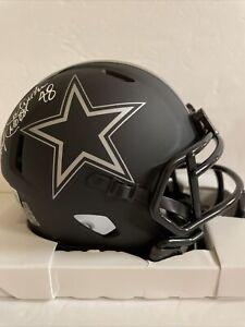 Daryl Johnston Signed Eclipse Mini Helmet Beckett COA Dallas Cowboys