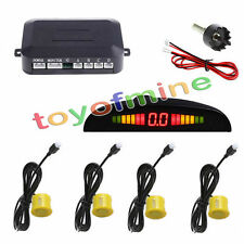 4 Display a LED Car inversione di sostegno del radar 230 centimetri giallo