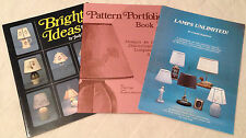 LOT OF 3 LAMPSHADE LAMP SHADE ART BOOKS Bright Ideas,Unlimited,Pattern Portfolio