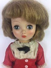 "Vintage Horsman 19"" Cindy Doll w/ Red Dress + Stockings Sleep Eyes Walker"