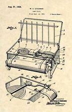 Official Coleman Portable Camping Stove US Patent Art Print- Vintage Antique 284