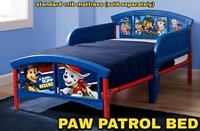 Paw Patrol Nick Jr Toddler Bed with Rails Kids Bedroom Furniture Toddler Gift