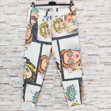 MADE IN ITALY Jogpants Crincle Röhrenhose Karottenhose Comic Frau Blogger 36-42