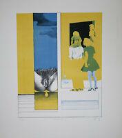 Hans Jürgen Diehl (b. 1940) - Beobachtung - Lithografie - Signiert -  1971